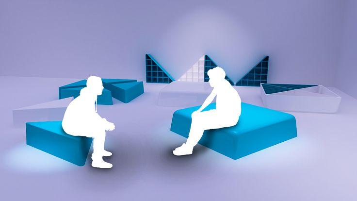 Mueble modular fabricado en plástico preparado para cumplir con una