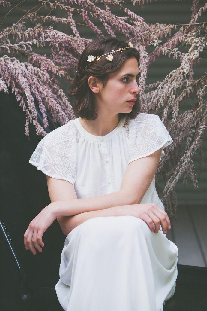 """Bijoux de tête """"Dorothee Flores"""" chez Suzanne Ceremony   Photographe : Cécile Cellerier  Donne-moi ta main"""
