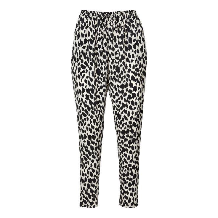 Penny pants - b/w leopard print