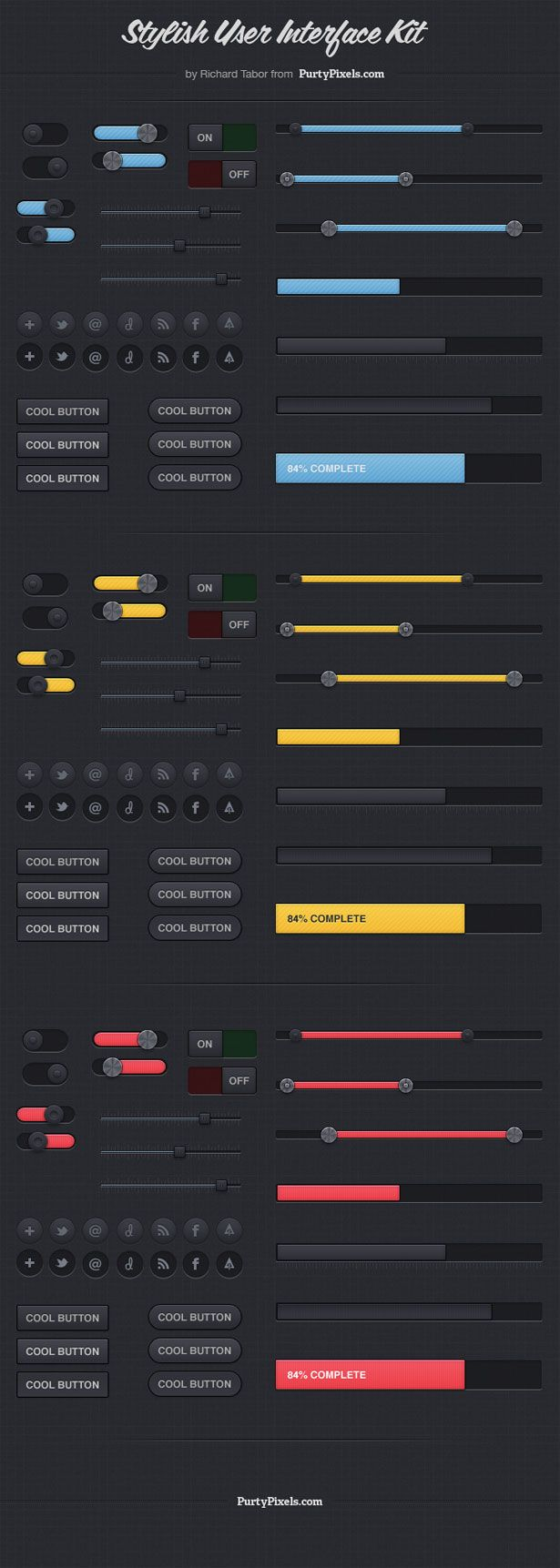 Free download: Exclusive Stylish User Interface Kit (PSD) | Webdesigner Depot - via bit.ly/epinner