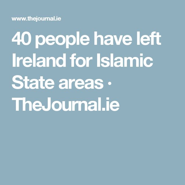 40 people have left Ireland for Islamic State areas · TheJournal.ie