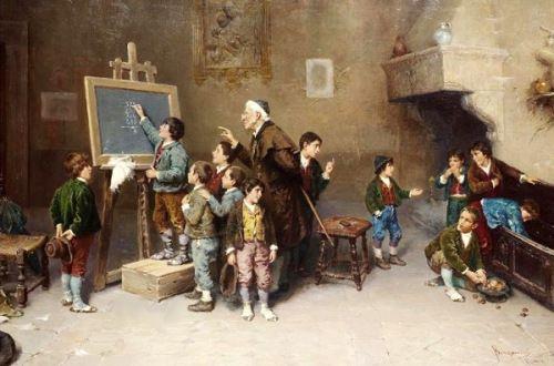 La escuela vista por Francesco Bergamini. Matemolivares