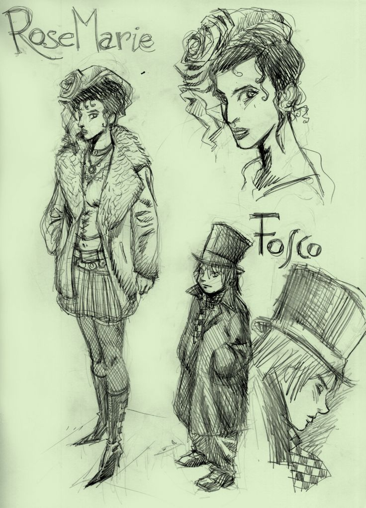Rose Marie e Fosco. Grafite su carta. 2003.