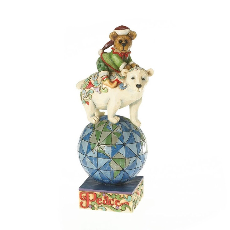 Jim Shore for Boyd's Bears by Enesco Piper Elfington and Snowden, Peace on Earth