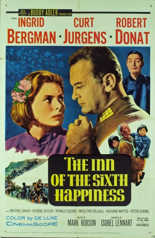 "2/03/18   2:39a    20th Century  Fox  ''The Inn of the Sixth Happiness""  Ingrid Bergman Curt Jurgens  Robert Donat     Ähnliches Foto"