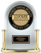 J.D. Power Award- Highest Ranked Large SUV in Initial Quality the 2017 Tahoe Full Size SUV. Chevrolet Cadillac of Santa Fe www.chevroletofsantafe.com