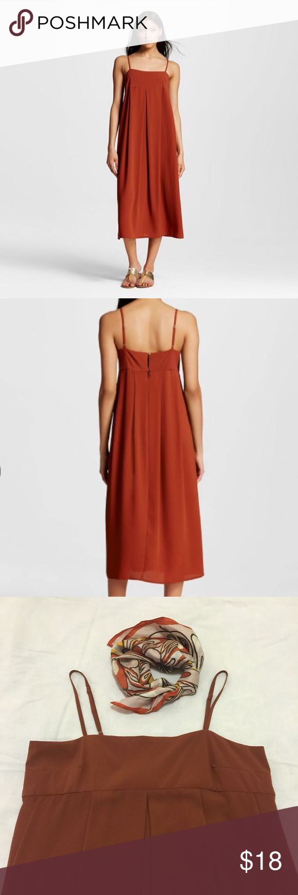 Who What Wear for Target rust empire dress XS re-poshing this lovely dress. never worn by me. fits loose for an XS for a bohemian look! who what wear Dresses Maxi