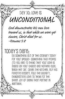 The Love Dare Day Love Is Unconditional