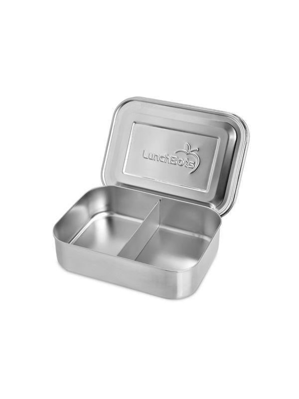 LunchBots PICO Duo Brotbehälter mit zwei Fächern - Natur Edelstahl, 25,95 €