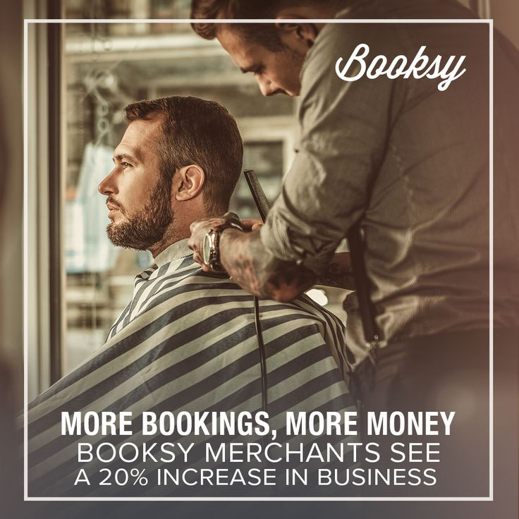 With Booksy you can increase your income and focus on your business! Let your clients book appointments online 24/7. They're gonna love it!