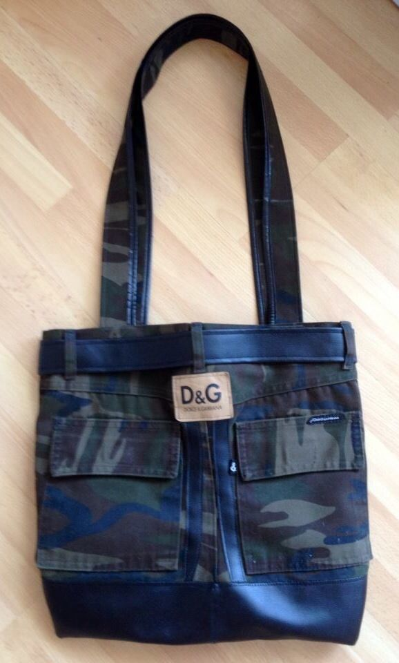 Camouflage D&G bag - recyceld from shorts