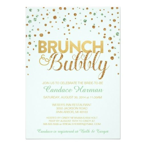 Best Wedding Brunch  Bubbly Bridal Shower Invitations Images