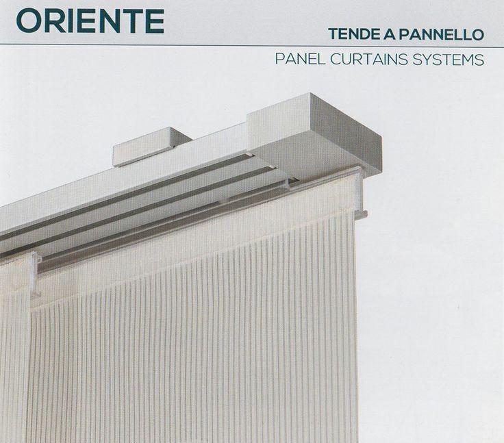 """Tenda a pannello Oriente della collezione """"Futura"""" #Mottura. Il tessuto disponibile della collezione Hi-tex è """"Stilo F.R."""" Ti aspettiamo presso il nostro punto vendita di Via Tiziano, 26 a Palermo per una consulenza gratuita."""