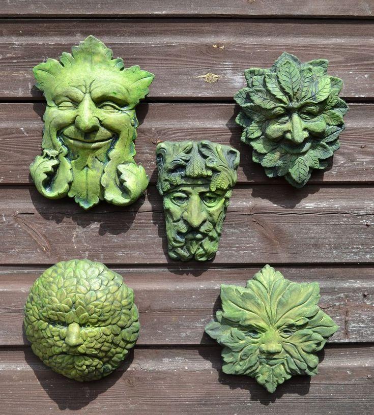 Green Man wall plaques set of 5 celtic pagan foliate stone home garden ornaments | Garden & Patio, Garden Ornaments, Other Garden Ornaments | eBay!
