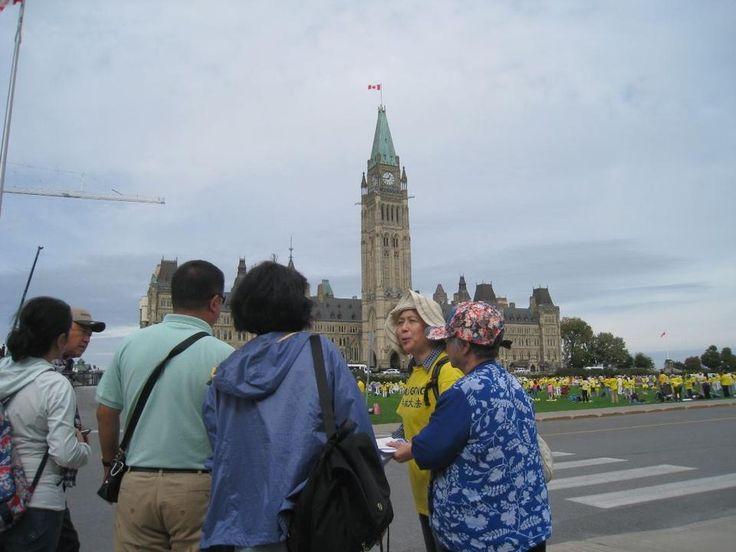 Ottawa, Canada: Falun Gong Protests Greet the Visit of Chinese Premier Li Keqiang