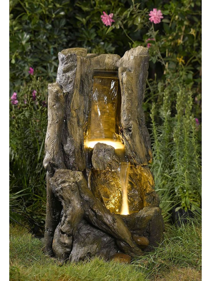 21 Best Water Fountains Wooden Log Images On Pinterest