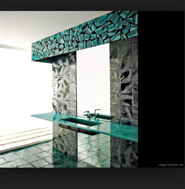 Green Tile By Franco Pecchioli 1 Green Modern Bathroom Design From Franco  Pecchioli