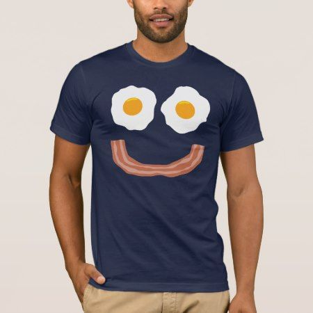 Eggs Bacon Smiley T-Shirt - click/tap to personalize and buy