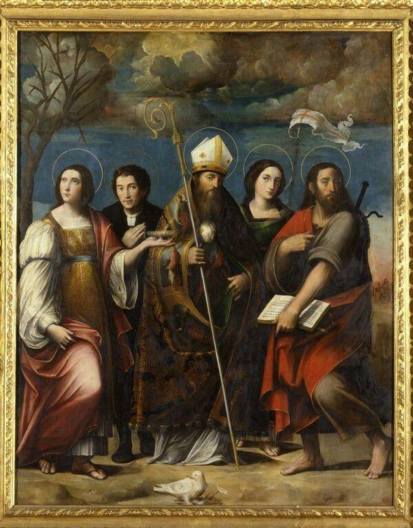 Madonna e Santi Frediano Lucia Orsola Giacomo. 1528-30. Pinacoteca Nazionale di Bologna