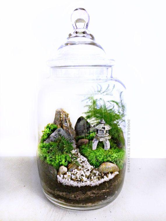 Japanese Garden Terrarium with Miniature Path by DoodleBirdie