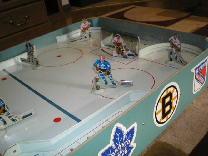1950 S Vintage Table Hockey Game Original 6 Leafs Vs Wings Hockey Games Hockey Ice Hockey