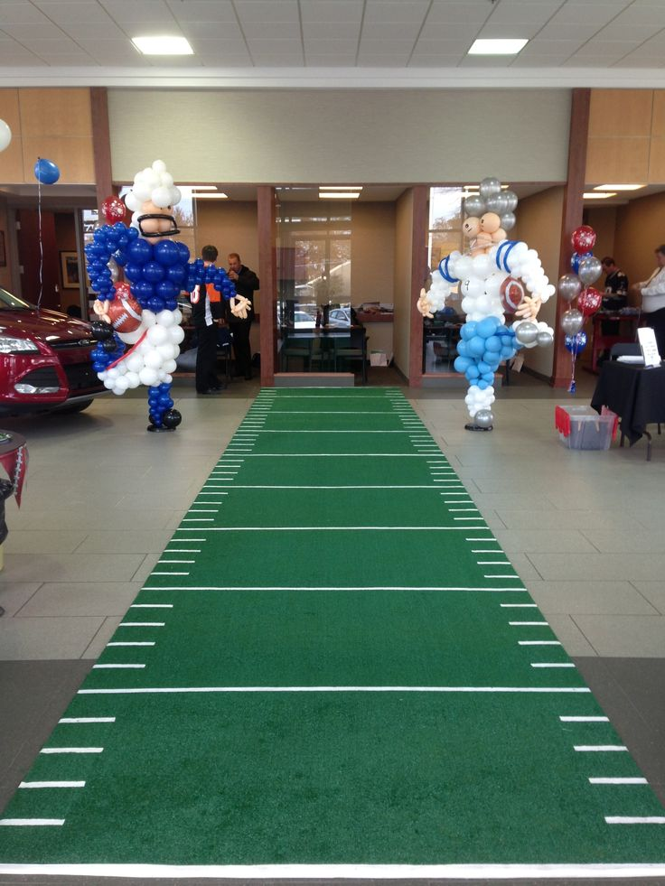 Superbowl Party Idea – 6′ x 26′ Astro Turf Runner great for private or corporate football themed events.  Contact SPECS Marketing & Event Planning to order today! Audrey Davis