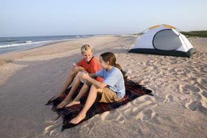 Port Aransas TX camping on the beach
