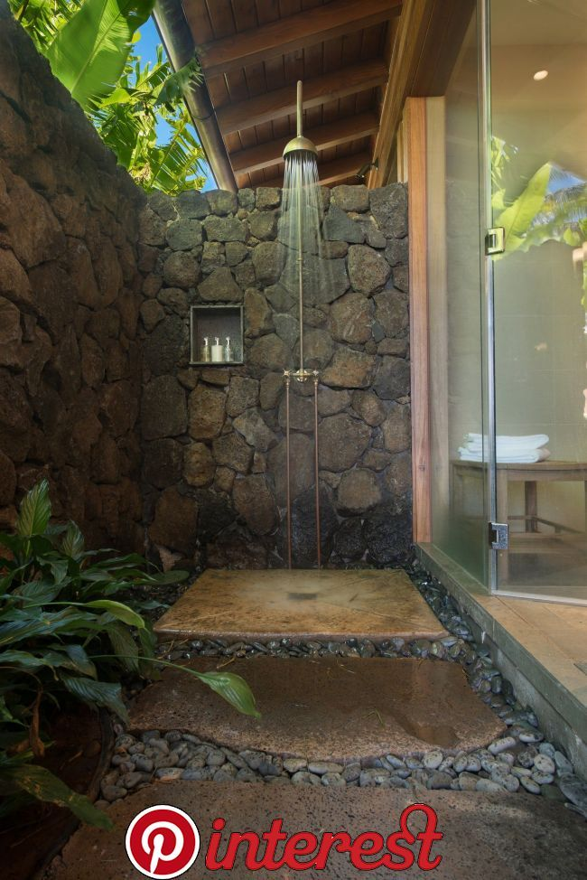 All Of Your Stress Will Be Washed Away With These Luxurious Outdoor Showers Add A Splash Of Outdoor Bathroom Design Indoor Outdoor Bathroom Outdoor Bathrooms