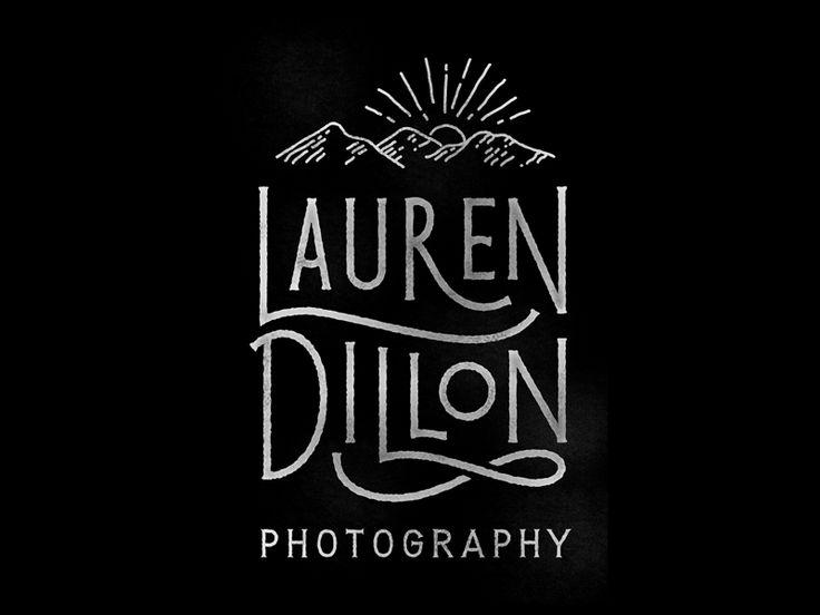 A logo I'm workin' up for a globe-trekking, adventure-seeking photographer. I love when I get to make a spooning ligature...
