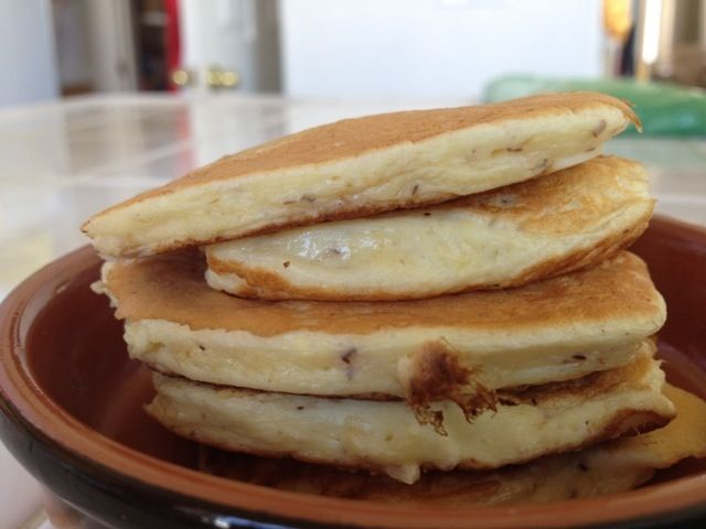 Low carb-high protein pancakes. Dr. Oz says 30 grams of protein within 30 minutes of getting up in the morning will boost your metabolism substantially.  I've found it difficult to get that much protein for breakfast.  Might just give these a try!