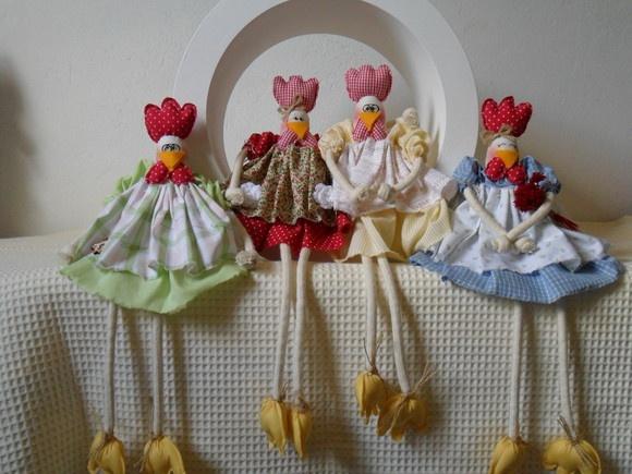 Boneca de Pano Galinhas