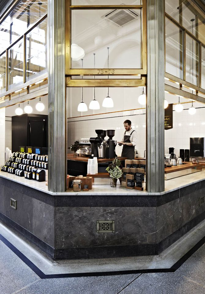 Market Lane Coffee, Queen Victoria Market -  #architecturalhardware #commercialarchitecture