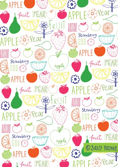 fruitblog - I love Sally Payne's designs!