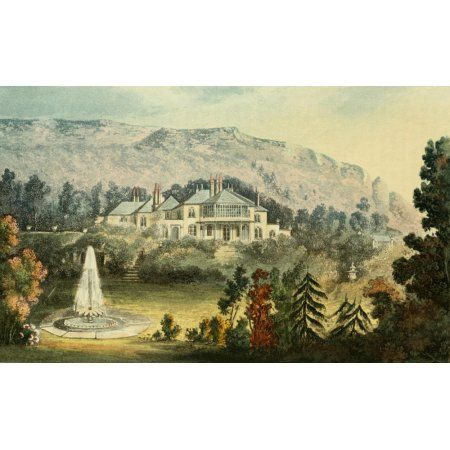 Repository of Arts 1817 Orchard cottage Canvas Art - J Gendall (18 x 24)