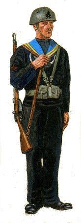 Regio Esercito - Uniformi della Regia Guardia di Finanza - guardia mare mobilitata.