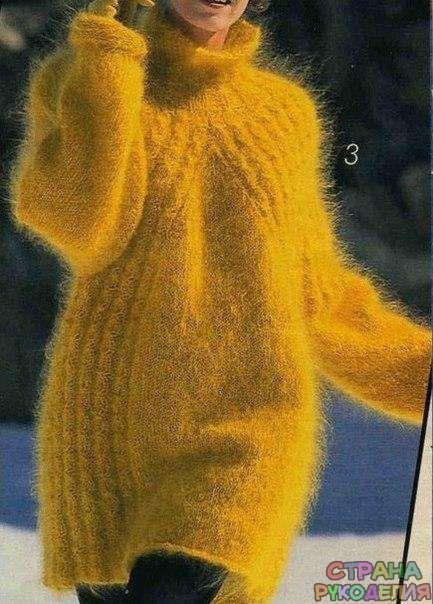 Пуловер с косами из мохера - Жакеты,Пуловеры, свитера - Вязание спицами…