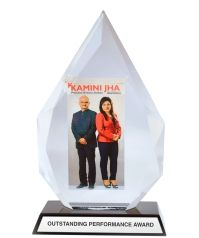 Elegant Acrylic Trophy with Photograph of the winner