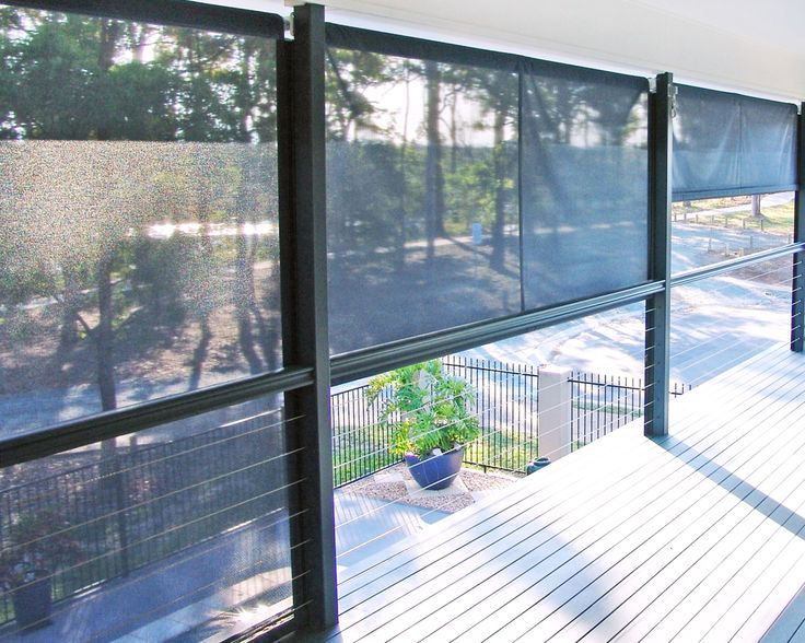 Straight drop awning / Outdoor blinds - Vanguard Blinds