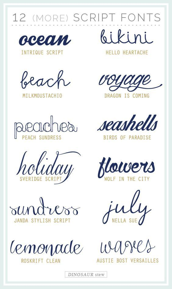 Twelve More Script Fonts These Are Free Too Fonts