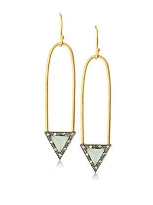 65% OFF Kevia Elongated Hoop Earrings