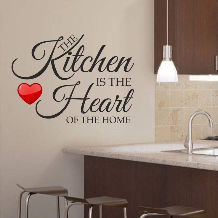Wonderful The Kitchen Is The Heart Of The Home Kitchen Wall Art Sticker Decal Graphic