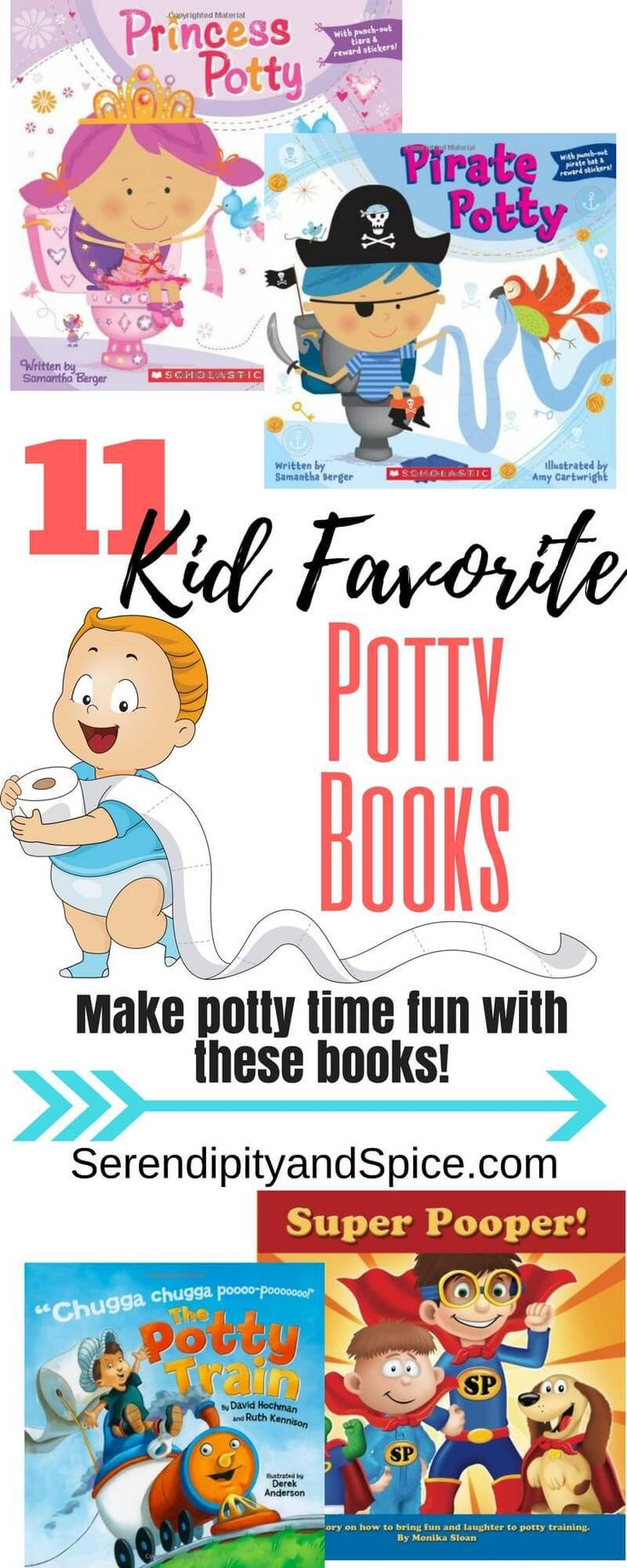 Books About Potty Training for Kids ~ great for parents trying to get children potty trained http://serendipityandspice.com