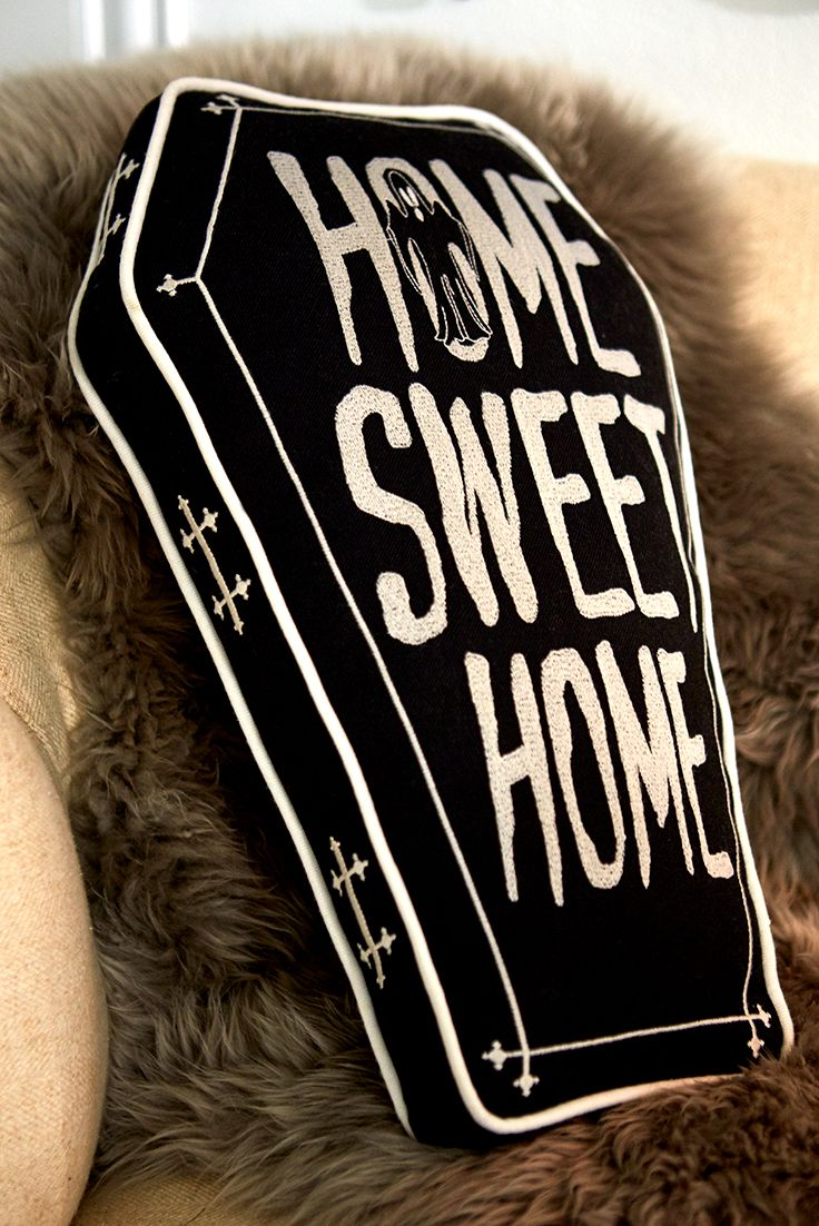 Home Sweet Home Coffin Pillow