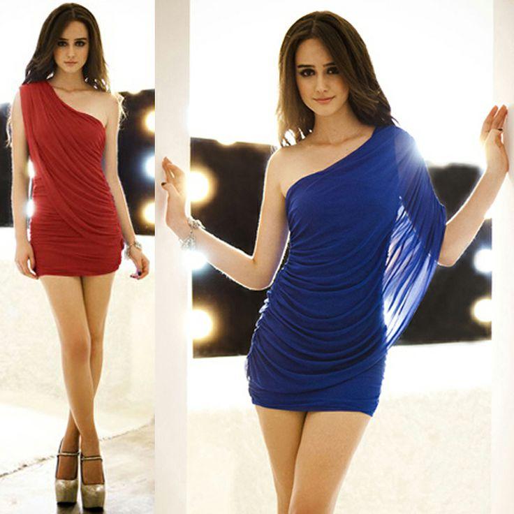 Бесплатная доставка 2 цвета ** красивая сексуальная плечо мини-платье Проект фотография марли платок понимание пакет раза бедра юбка 905 -! ...