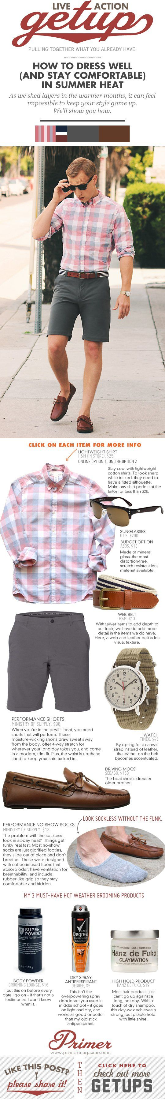 Live-Action Getup: How to Dress Well (and Stay Comfortable) in Summer Heat   Primer