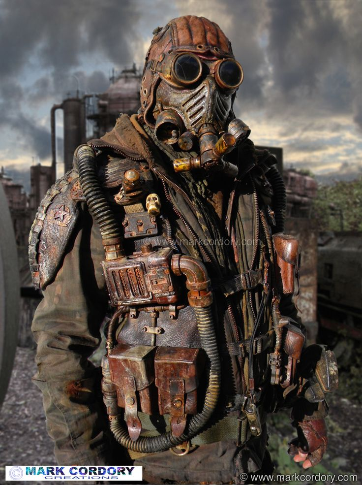 Post Apocalyptic LARP costume. Alternative filter unit. Mark Cordory Creations. www.markcordory.com