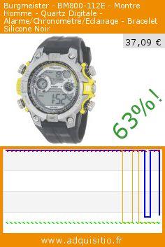 Burgmeister - BM800-112E - Montre Homme - Quartz Digitale - Alarme/Chronomètre/Eclairage - Bracelet Silicone Noir (Montre). Réduction de 63%! Prix actuel 37,09 €, l'ancien prix était de 99,00 €. http://www.adquisitio.fr/burgmeister/bm800-112e-montre-homme