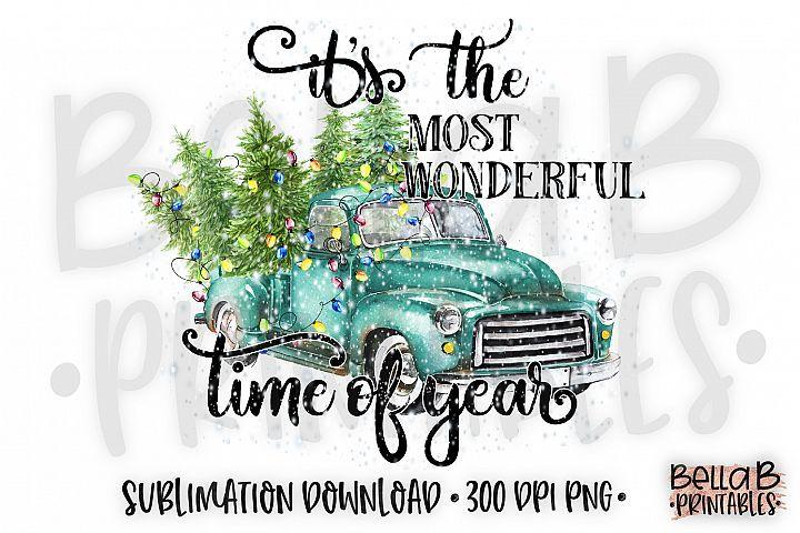 Download Christmas Sublimation Design It S The Most Wonderful Time 352190 Sublimation Design Bundles Sublime Wonderful Time Design