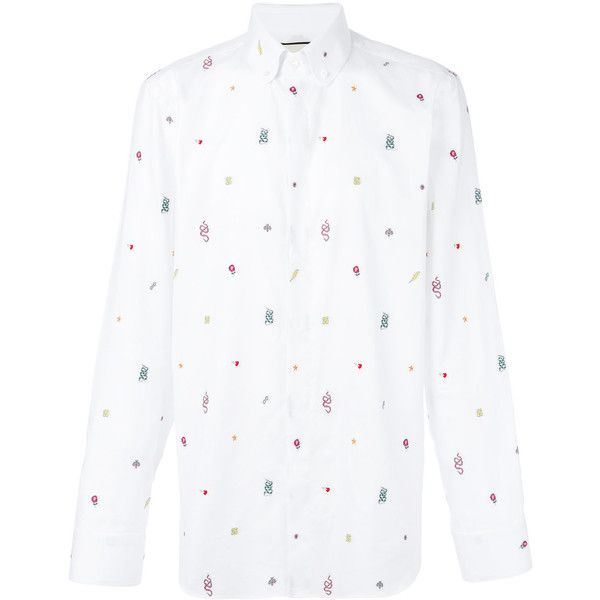 Gucci symbols oxford duke shirt (10.762.165 IDR) ❤ liked on Polyvore featuring men's fashion, men's clothing, men's shirts, men's casual shirts, white, mens casual button down shirts, mens long sleeve collared shirts, mens long sleeve button down shirts, mens white button down shirt and mens button down collar shirts