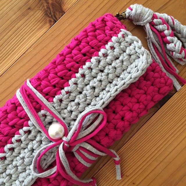 crochet clutch bag …